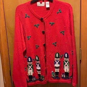 NWOT Ugly Christmas Sweater with matching scarf